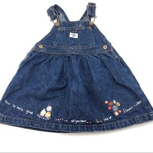 OshKosh B'gosh Vestbak Denim Overall Skirt Sz 18M